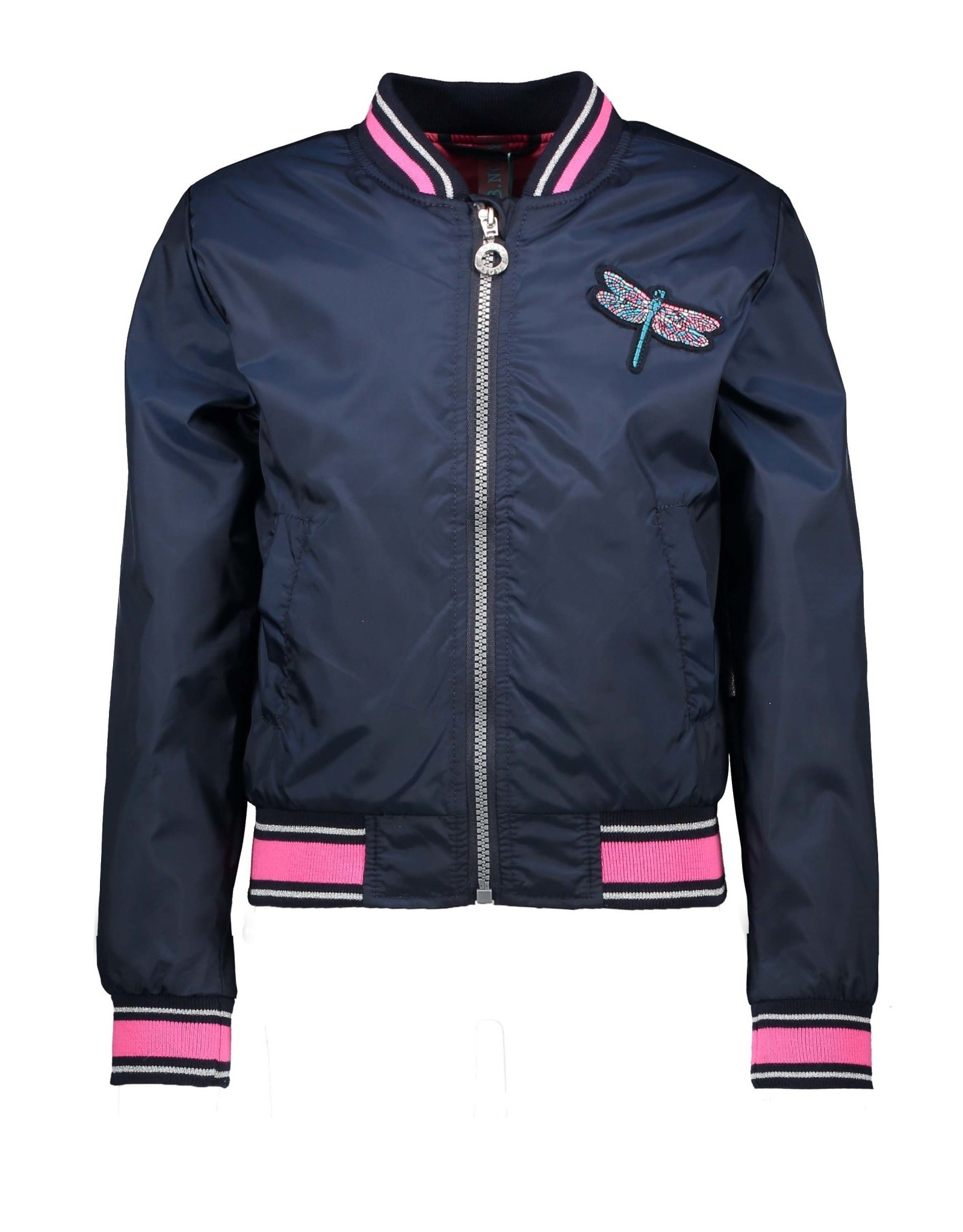 B-nosy Jacket with patch on chest and artwork on backside 146 Space blue