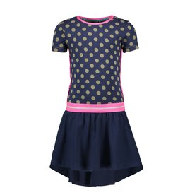 B-nosy Jurk with ao dot top and solid jersey skirt 147 Mili dots