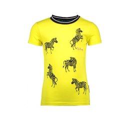 B-nosy T-shirt with direct zebra embroidery 500 Lemon