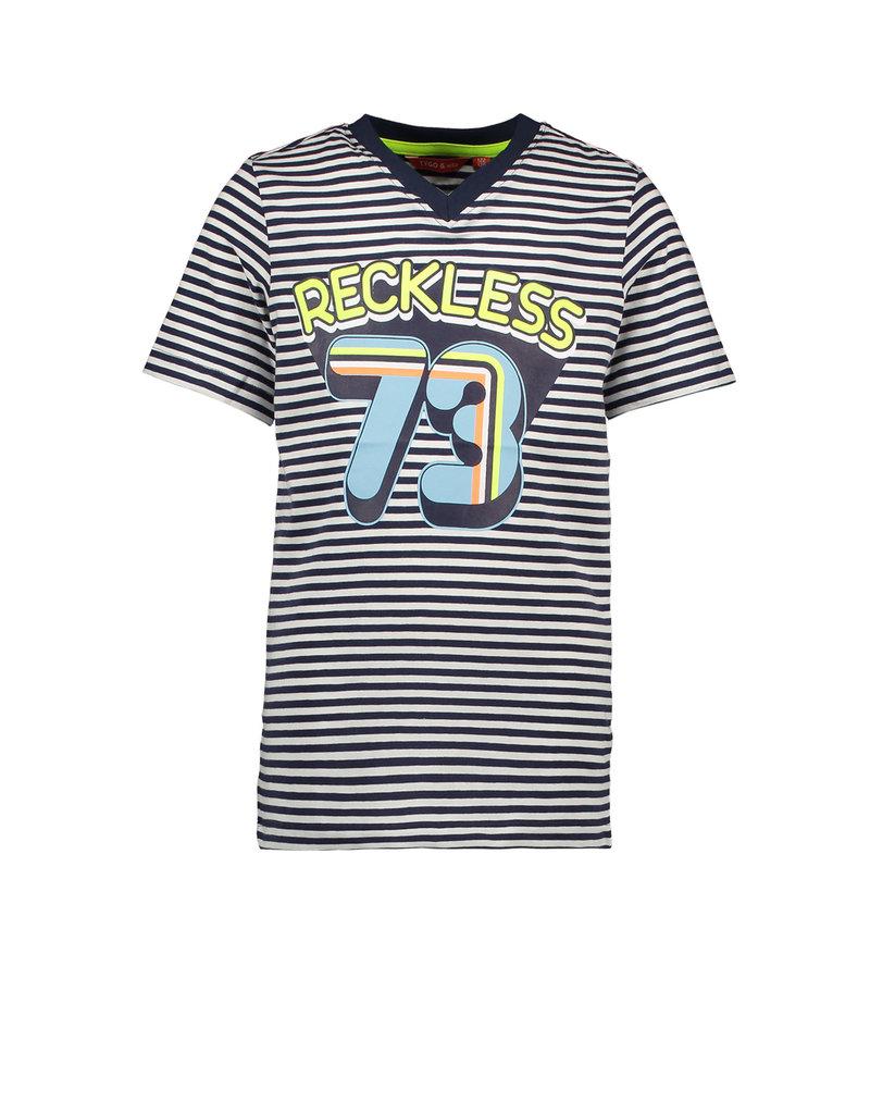 Tygo & vito T-shirt stripe RECKLESS 190 Navy