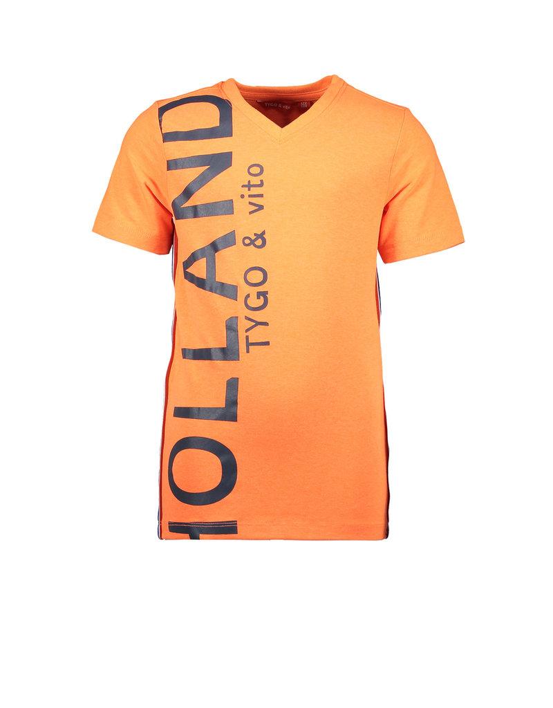 Tygo & vito T-shirt HOLLAND neon 565 Shocking orange