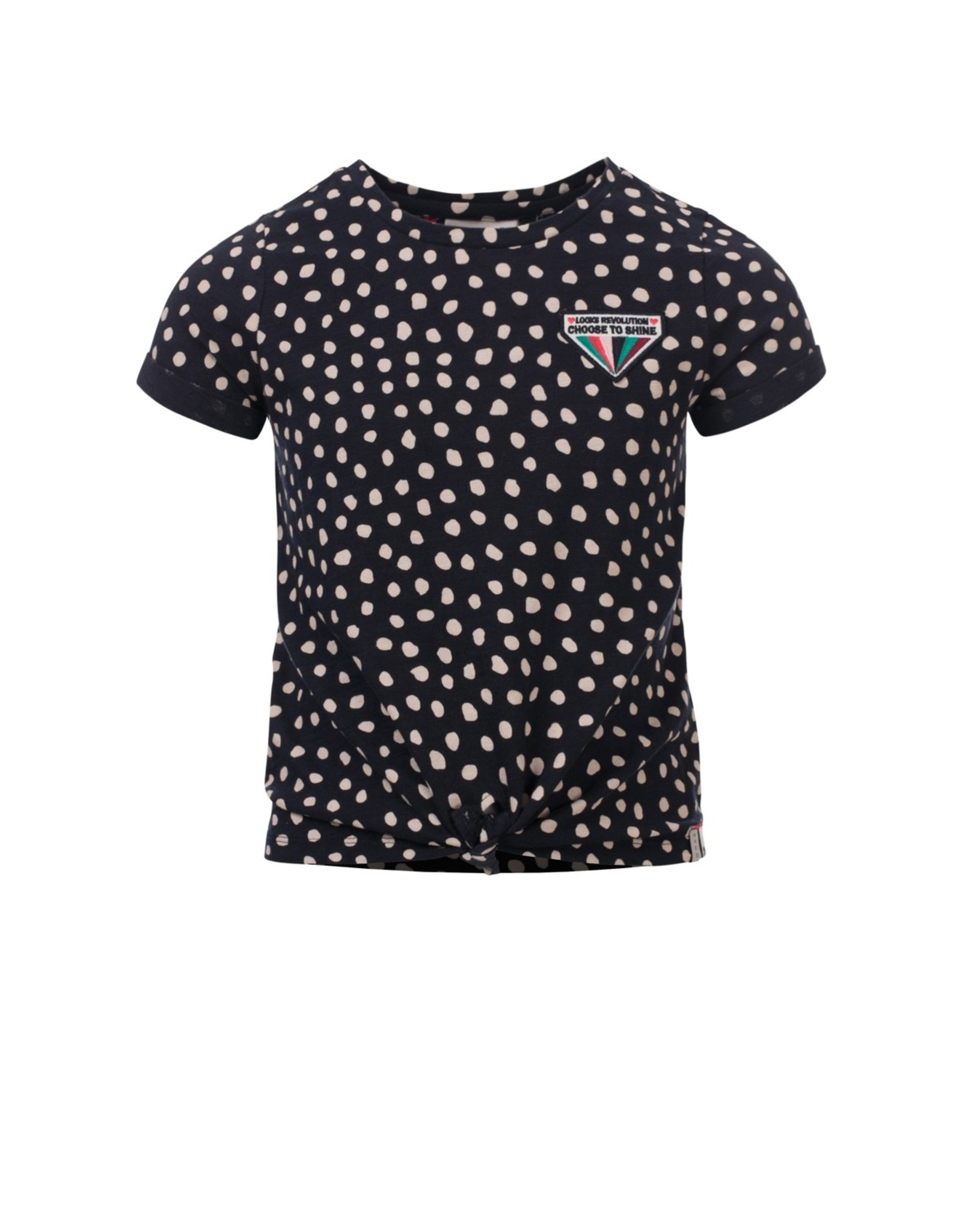 Looxs Girls T-shirt with knot Dots AO