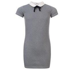 Looxs Girls dress with woven co mini stripe