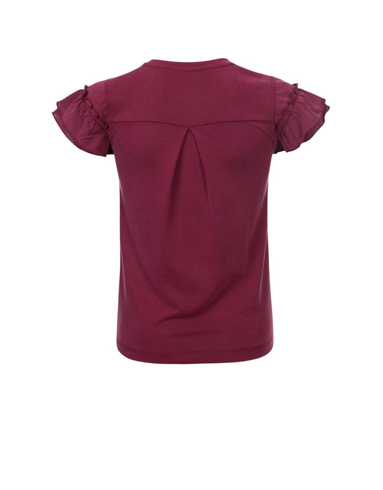Looxs Girls ruffle sleeve top Ruby