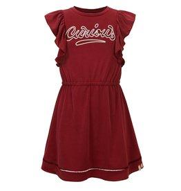 Looxs Girls ruffle sleeve dress Ruby