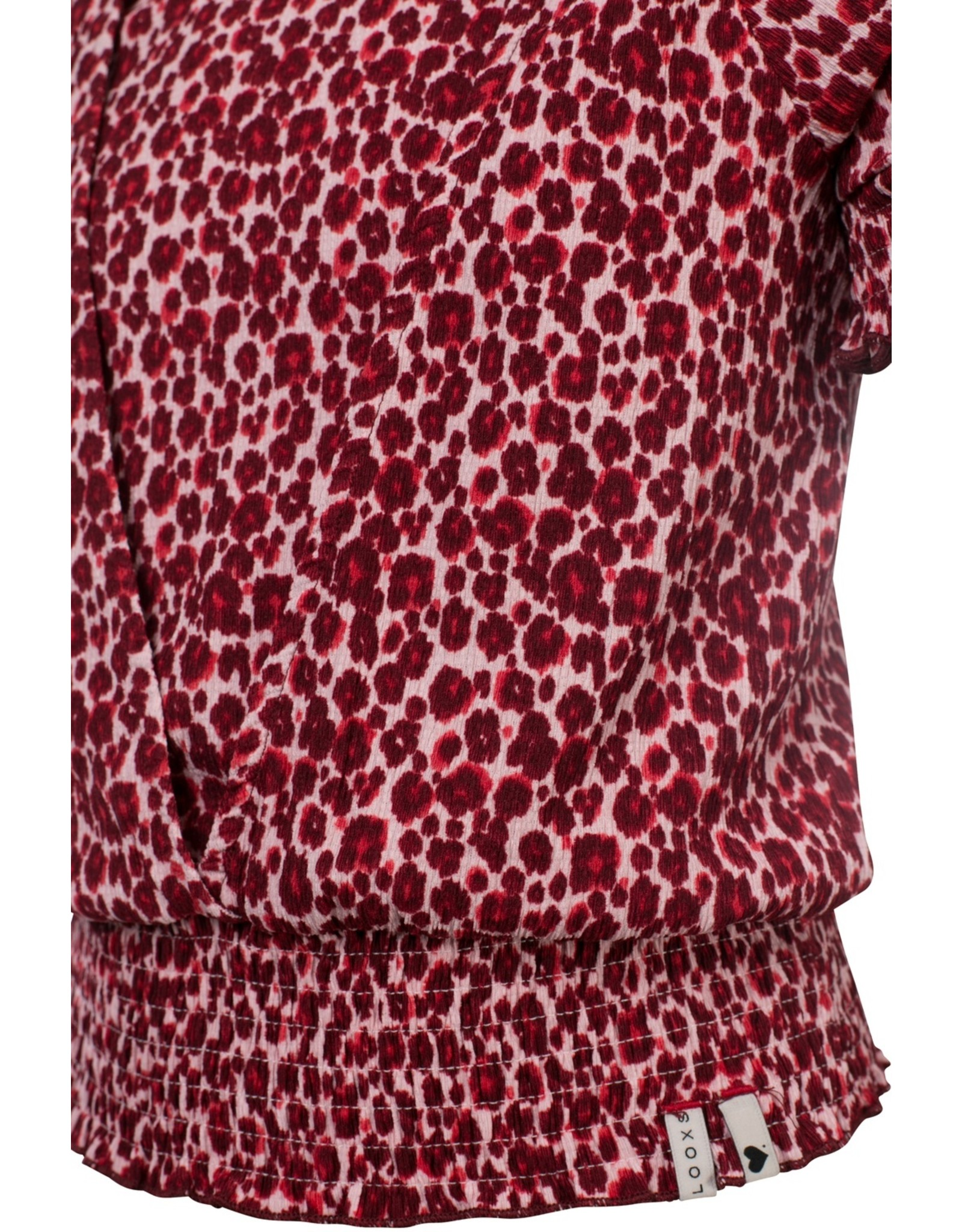 Looxs Girls woven wrap top pink panther