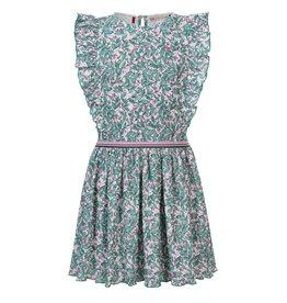 Looxs Little woven dress ruffle Bardot stripe Y/D