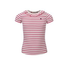 Looxs Little t-shirt s. Sleeve fuchsia stripe