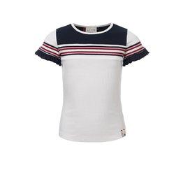 Looxs Girls rib T-shirt s/s off white