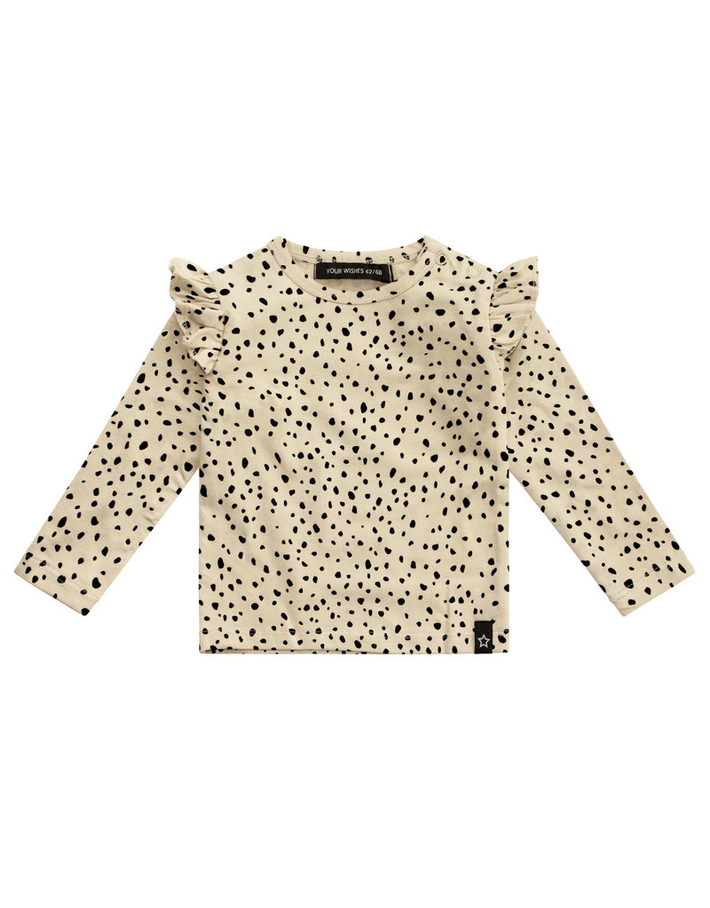 Your Wishes Cheetah - Nude | Ruffle Shoulder Top