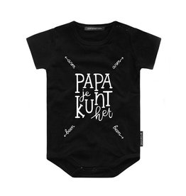 Your Wishes Papa je kunt het | Shortsleeve Romper