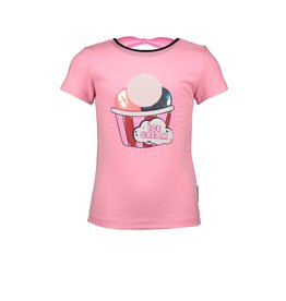 B-nosy T-shirt with piping on sideseams and bow detail 250 Sorbet