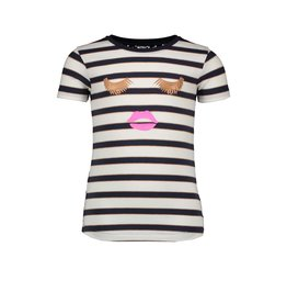 B-nosy T-shirt with lace backside 75 Oxford stripe