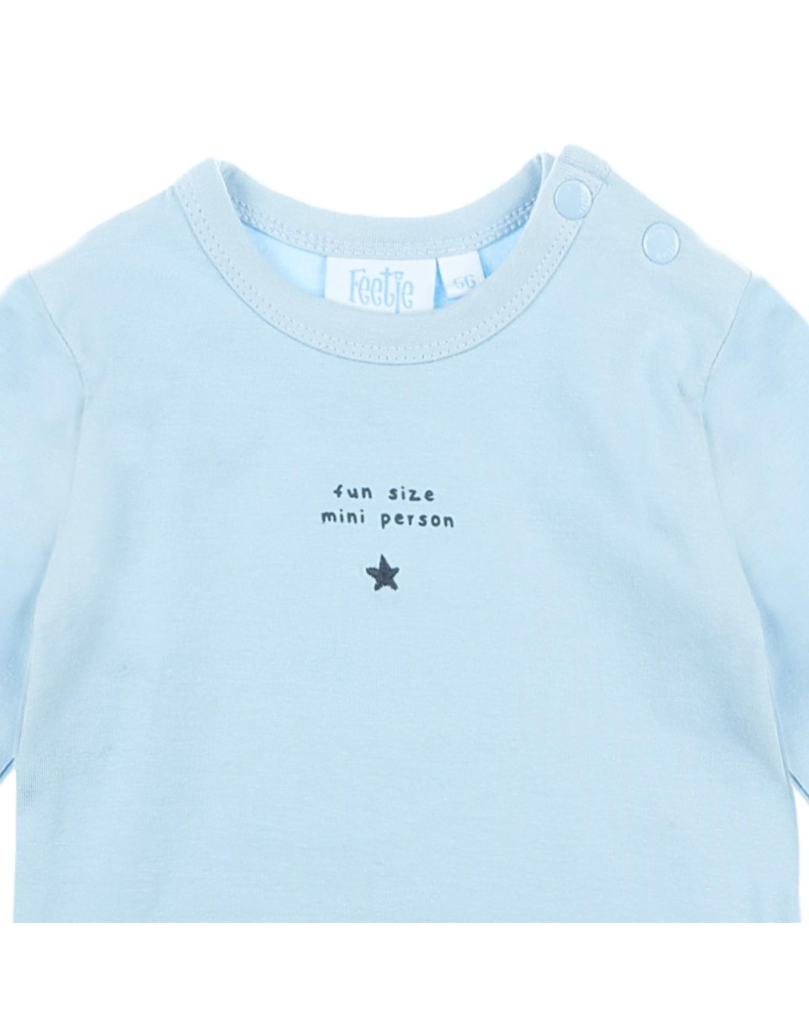 Feetje Longsleeve Fun Little Person - Mini Person Blauw