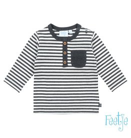 Feetje Longsleeve streep - Mini Person Antraciet melange NOS