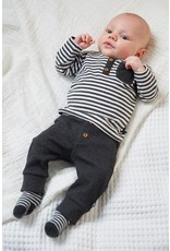Feetje Longsleeve streep - Mini Person Antraciet melange