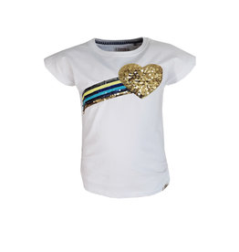 Topitm T-shirt Rainbow White