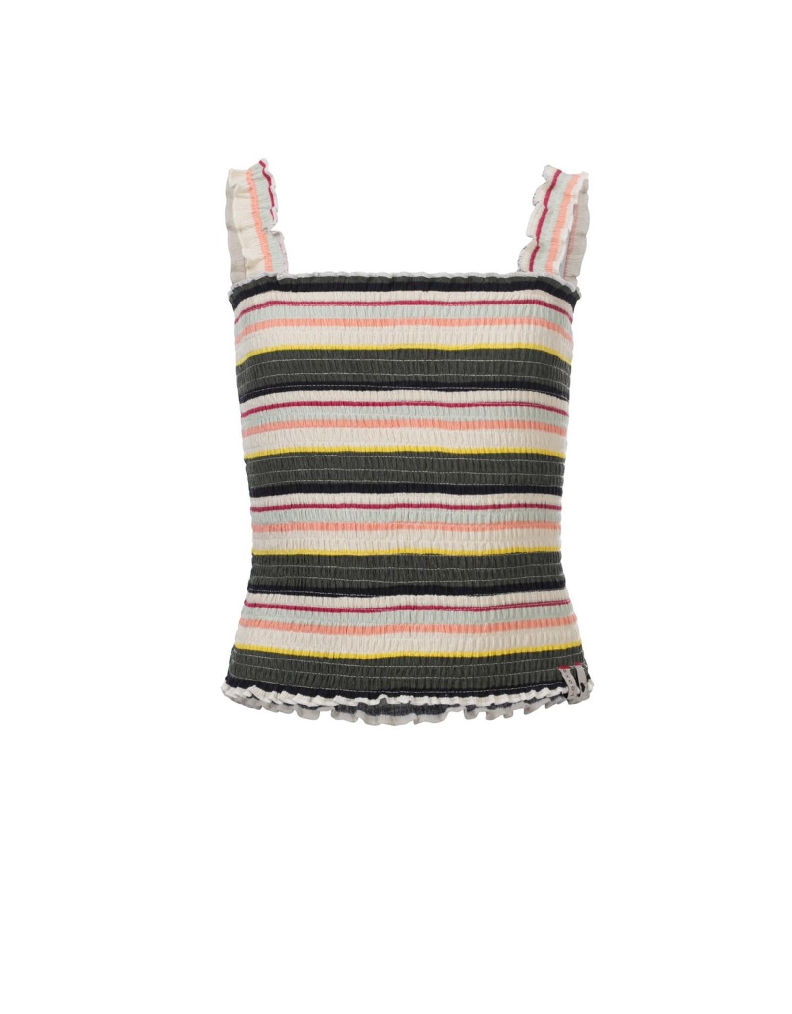 Looxs Girls smock top printed stripe