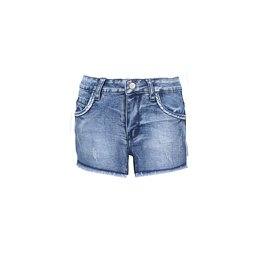 B-nosy Short 132 Middle denim with raw edge finishing