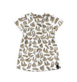 Your Wishes Sloths Pleated dress NOS