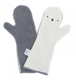 Invented 4 kids Shower Glove penguin donker/licht