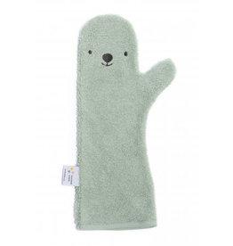 Invented 4 kids Shower Glove polar bear licht groen