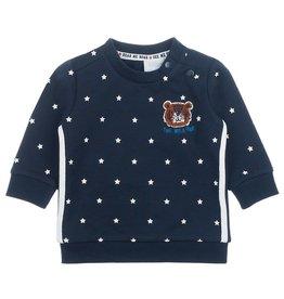 Feetje Sweater AOP - Smile & Roar Marine