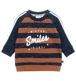 Feetje Sweater Mister Smiles - Smile & Roar Marine melange