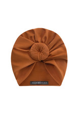 Your Wishes Cognac Jersey Turban knot