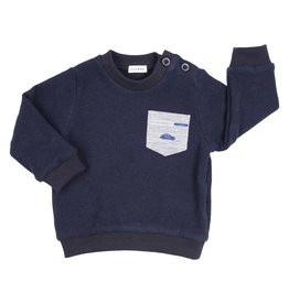 Gymp SWEATER - POCKET CAR - GILLO -MARINE