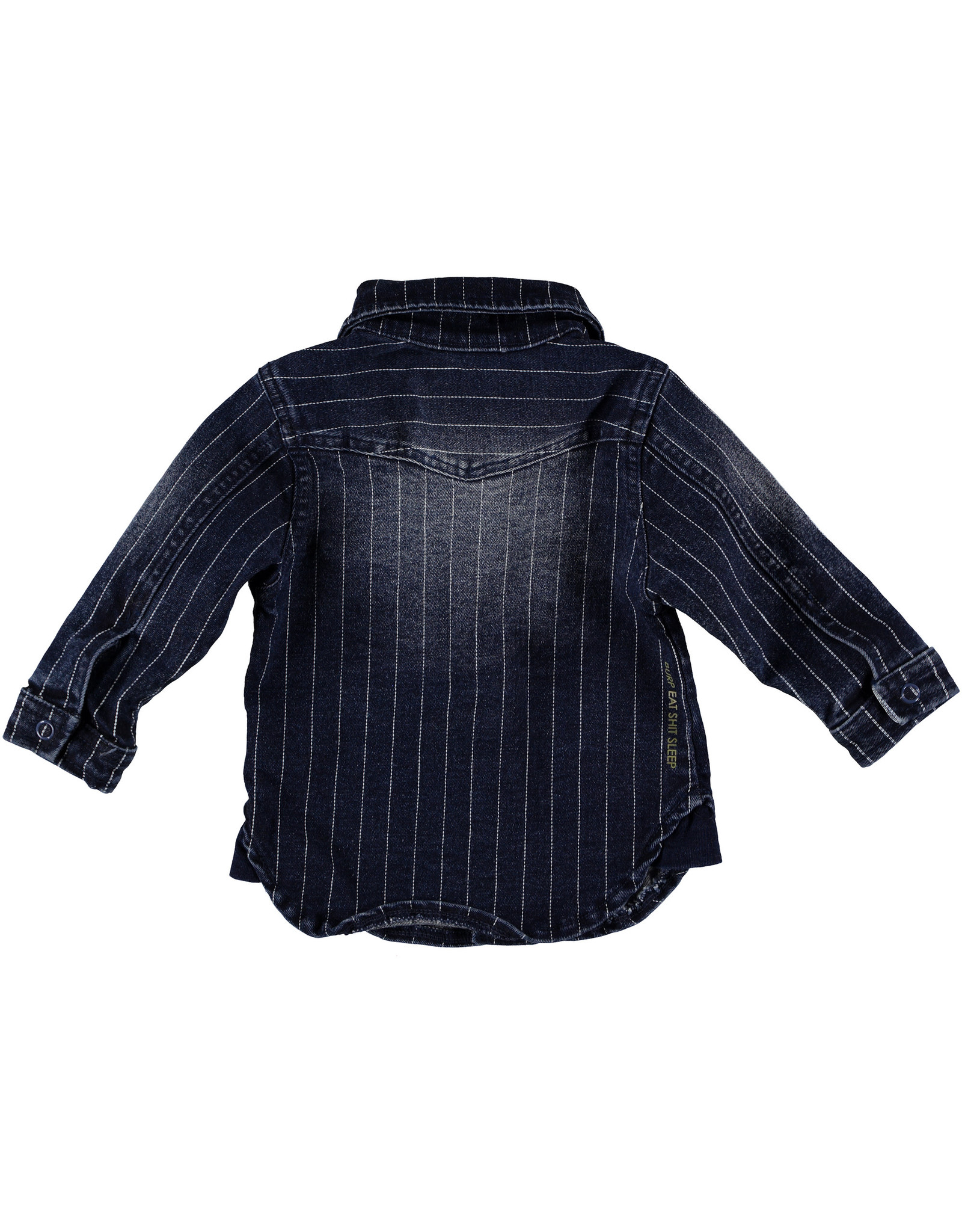 BESS Blouse Denim striped  Stone wash