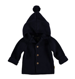 BESS Cardigan Knitted Hood Navy