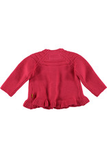 BESS Cardigan Knitted Ruffle Coral