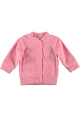 BESS Cardigan Velvet Striped Pink