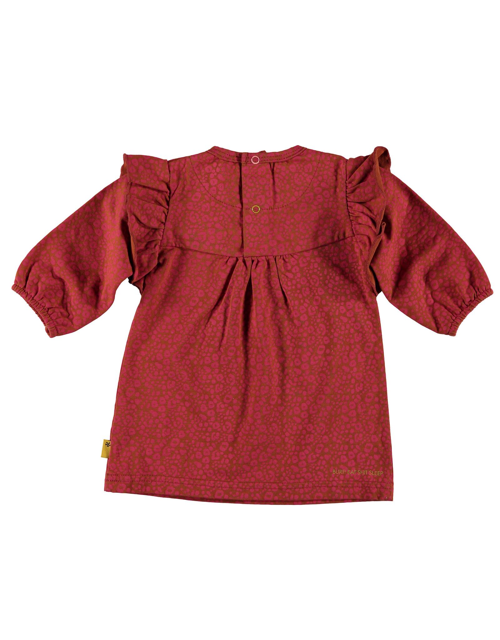 BESS Dress AOP Ruffle Coral
