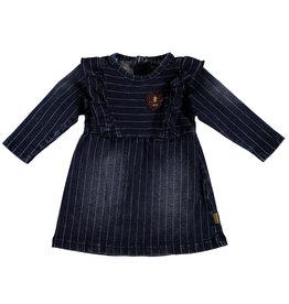 BESS Dress Denim Striped Stone wash