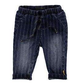 BESS Pants Denim striped Stone wash