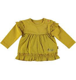 BESS Shirt L. sl. Ruffles Ocre