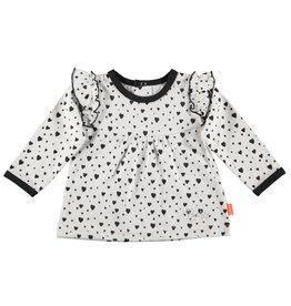 BESS Shirt l.sl. Hearts with Ruffles White