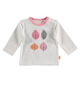 BESS Shirt l.sl. Leaves White