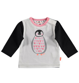 BESS Shirt l.sl. Penguin Hearts White