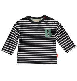 BESS Shirt l.sl. Striped B Antracite