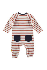 BESS Suit striped with pocket Rusty