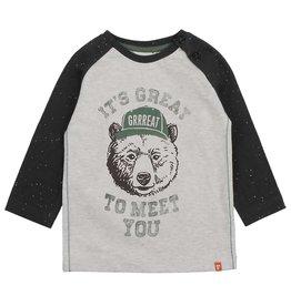 Feetje Longsleeve It's Great - Bear Hugs Grijs melange