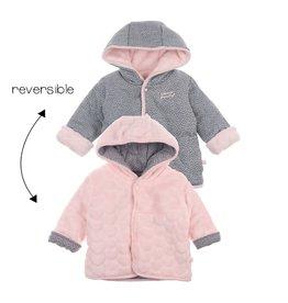 Feetje Omkeerbaar jasje met capuchon - We Are Family Girls Roze
