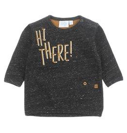 Feetje Sweater - Hi There Antraciet melange