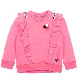 Jubel Sweater ruches - Animal Attitude Roze