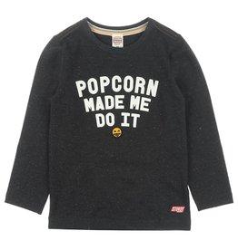 Sturdy Longsleeve Popcorn - Popcorn Power Zwart melange
