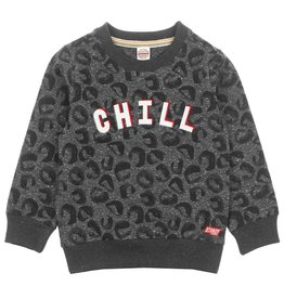 Sturdy Sweater Chill - Popcorn Power Antraciet melange