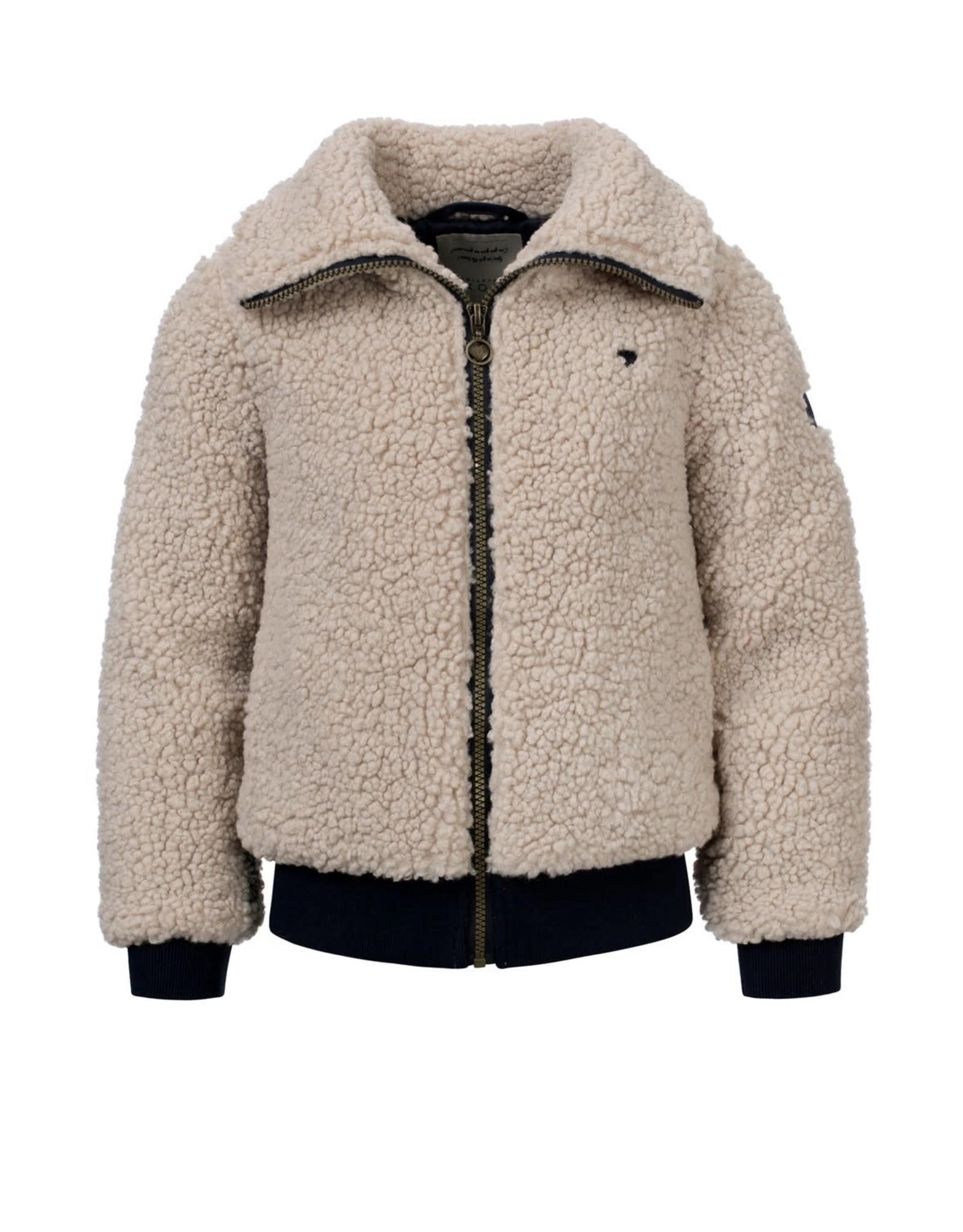 Looxs Girls Bomber teddy jacket Desert